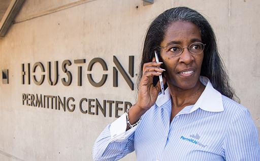 Helen Callier at Houston Permitting Center