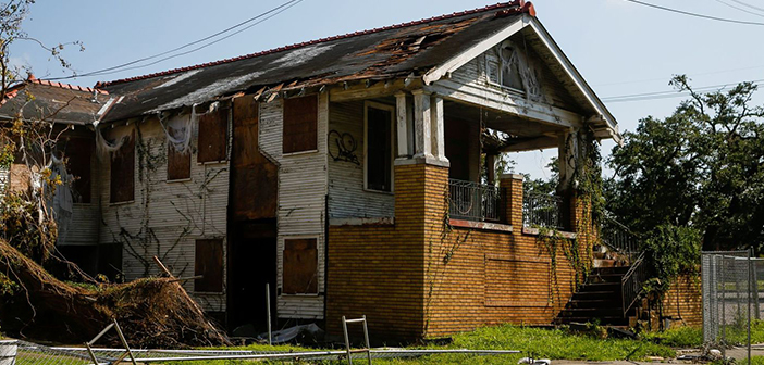 Home Damage after Hurricane Nicholas